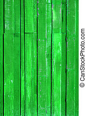 Texture of Light Green color paint plank vertical