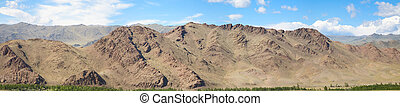 Panoramic image of the Altai Mountains