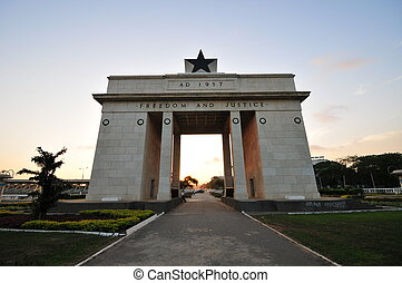 independencia, arco, -, Accra, Ghana