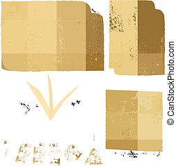 Set of old paper sheets Vector illustration