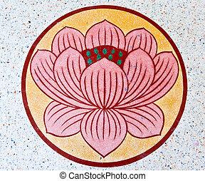 Lotus pattern in a circle