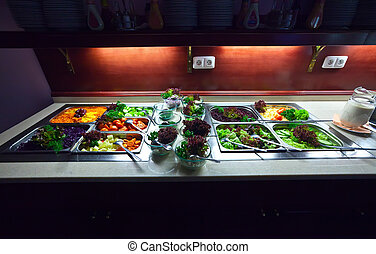 vegetables in  buffet