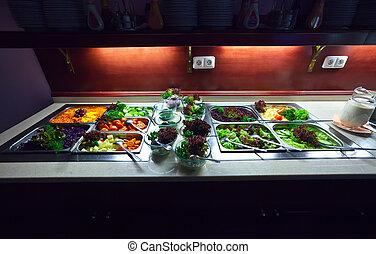 vegetales, Buffet