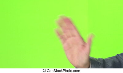 Hand Actions - Hand actions on green screen