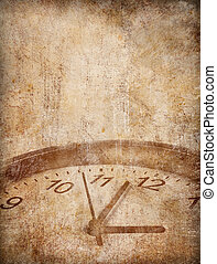 Grunge time concept background