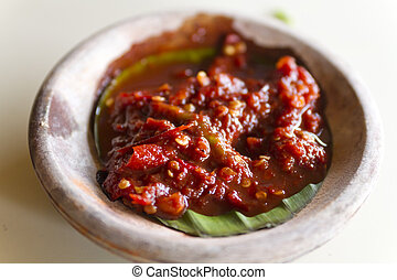 Chilli Paste or Sambal - Chilli paste or sambal made from...