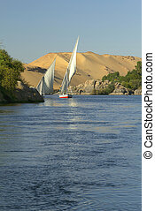 Typical sailing on the Nile.(Egypt)
