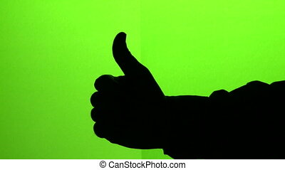 Thumbs up and Countdown - Mans hand gestures thumbs up and...