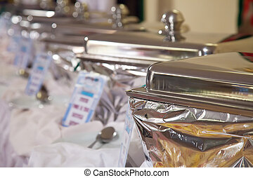 Buffet heated trays - Buffet heated trays ready for service...