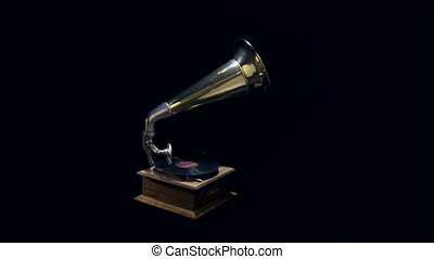 Vintage phonograph player