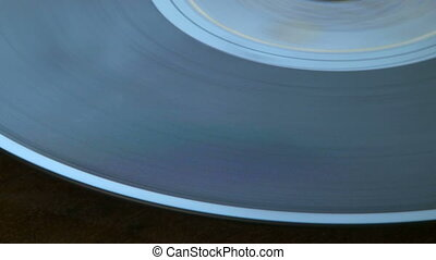 Vintage phonograph player - Close up shot of a vintage...