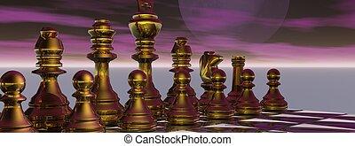checkmate and sky purple