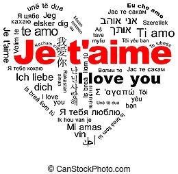Je t'aime - The words I love you in the languages ??of the...