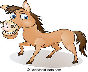 funny horse cartoon