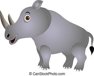 funny rhino cartoon