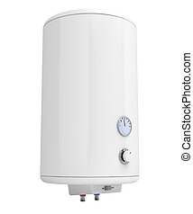 Electric water heater - Water heater isolated on white