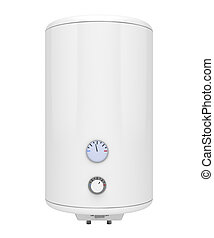 Water heater - Electric water heater isolated on white