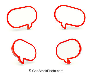 Speech bubbles isolated on white