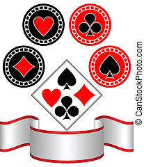 Symbols of playing cards.