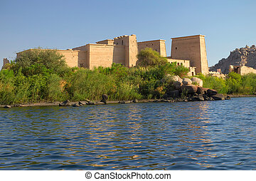 The Temple of Isis at Philae island. (Aswan, Egypt)