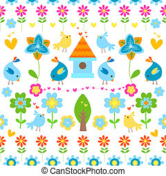 spring background - spring and easter seamless background