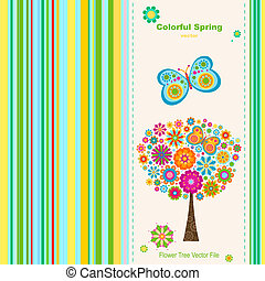 greeting card - colorful spring, greeting card background