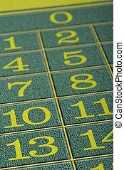 cierre, vista, verde, alfombra, casino, ruleta, foco,...