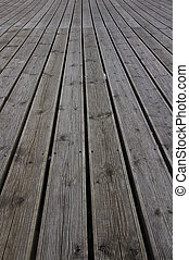 Grooved wooden planks for texture or background
