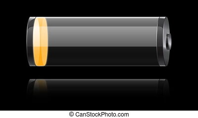 glass orange battery charging