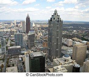 アトランタ, 航空写真, ジョージア, 光景