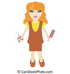 nice girl hairdresser