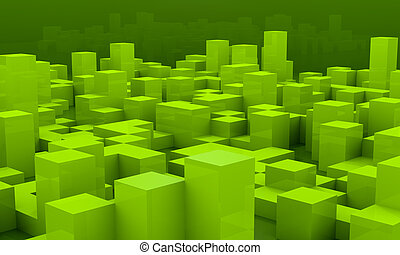 background with cubes