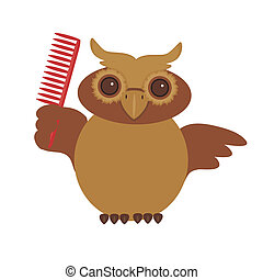 nice owl with comb