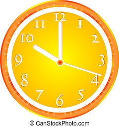 Wall clock, dial beginning of the working day vector