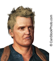 Ugly Bad Guy Portrait - Ugly bad guy tough guy portrait...