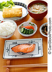 typical japanese breakfast image - japanese breakfast set...