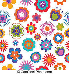 seamless flower pattern background , vector illustration