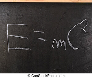 Theory of relativity - Physics formula written on the...