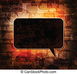 speech bubble - Background with grungy speech bubble eps10...