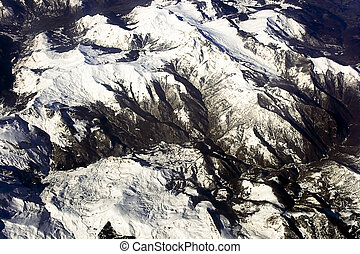 View is from above on French Alps