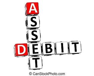 3D Asset Debit Crossword text