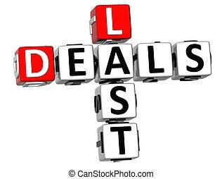 3D Last Deals Crossword text - 3D Last Deals Crossword on...