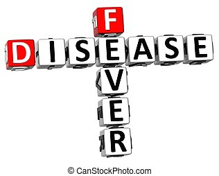 3D Disease Fever Crossword text