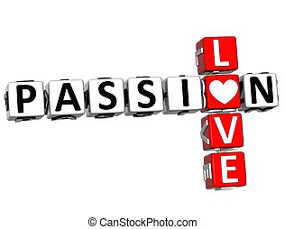 3D Passion Love Crossword text