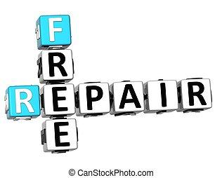 3D Free Fix and Repair Need Crossword