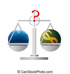 Balance with Earth and US Dollar