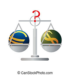 Balance with Euro and US Dollar