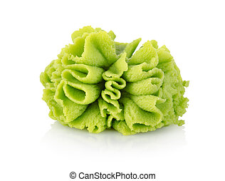 Wasabi seasoning isolated on a white background