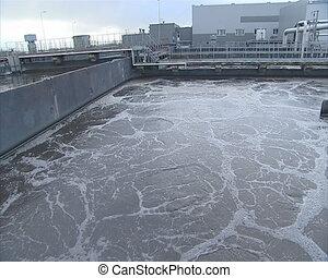 sewage water clean pool