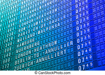 Airport timeboard - Timeboard in the modern airport